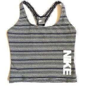Nike Sport cropped Tank top striped